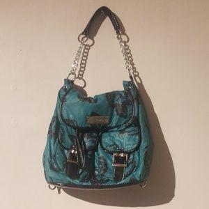 Teal Floral Betsey Johnson Shoulder Bag Gently Use